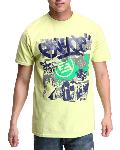 Enyce Men Green,Yellow Holding It Down T-Shirt