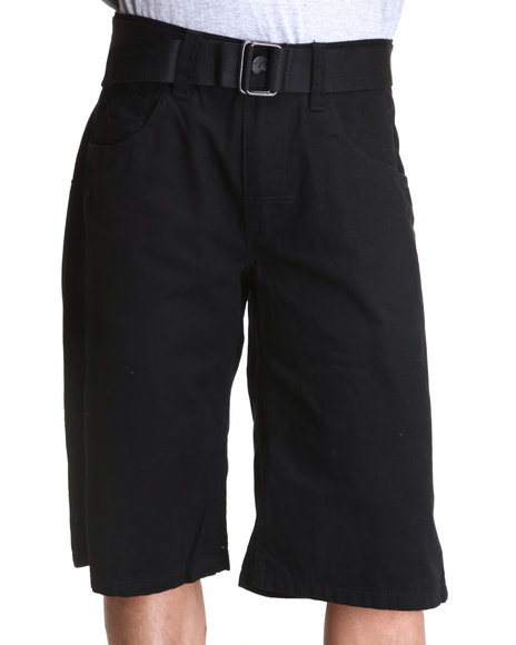 Enyce Men Black Whiskey Canvas Shorts