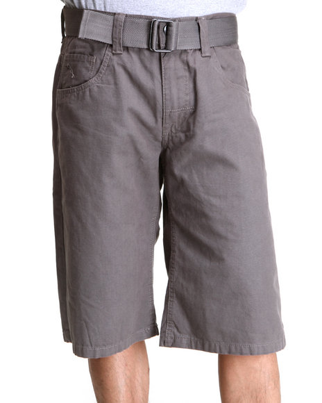 Enyce Men Charcoal Whiskey Canvas Shorts