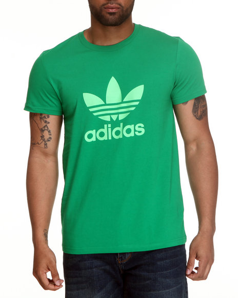 Adidas Men Green Adi Trefoil Tee