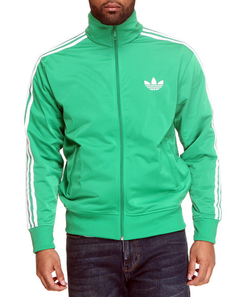 Adidas Men Green Firebird Track Jacket