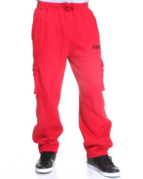 COOGI Men Red Military Coogi Pull String Sweat Pants