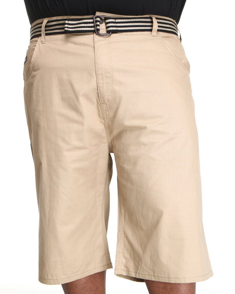 Enyce Men Khaki Hr Rib Stop Shorts (B&T)