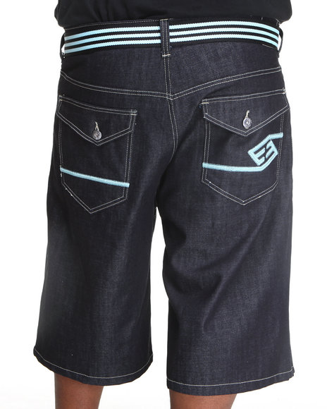 Enyce Men Dark Wash,Light Blue High Road Flap Brights Shorts (B&T)