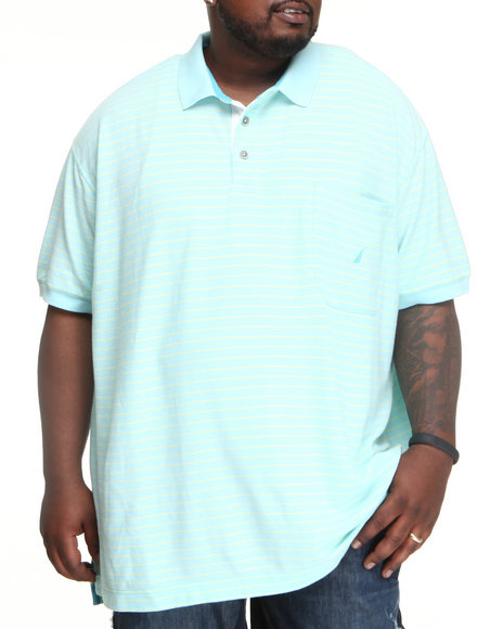 Nautica - Men Light Blue Mini Feeder Stripe Polo (B&T)