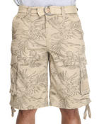 Company 81 - Co81 Tropical Printed Belted Cargo Shorts