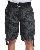 Men - Co81 Tropical Printed Belted Cargo Shorts