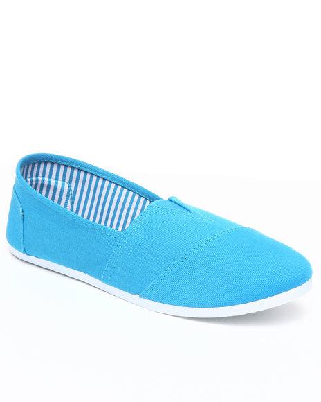 Apple Bottoms Women Blue Poppi Casual Canvas Sneaker