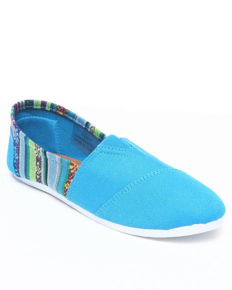 Apple Bottoms Women Blue Percy Aztec Trim Casual Sneaker
