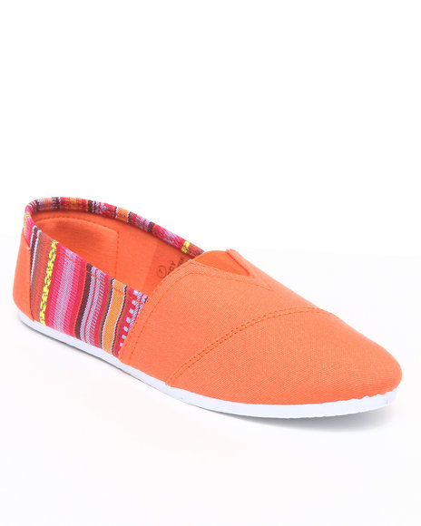 Apple Bottoms Women Orange Percy Aztec Trim Casual Sneaker