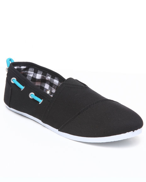 Apple Bottoms Women Black Dracoy Adjustable Casual Canvas Sneaker
