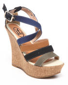 Fashion Lab - Canvas Wedge w/ buckle