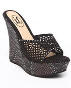 Fashion Lab - snake wedge w/ mesh cut out