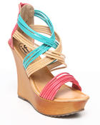 Fashion Lab - metallic wooden wedge