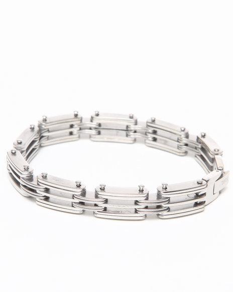 Drj Jewelry Shoppe Men Xfact Stainless Steel Bracelet Silver - $18.99