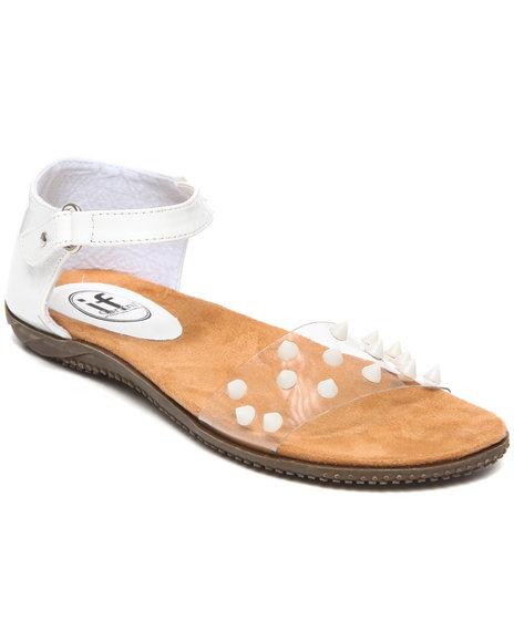 Fashion Lab White Neon Sandal W/Front Velcro Strap
