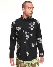 -FEATURES- - Kill Switch Ghost Rose Button Down L/S Shirt