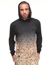 10.Deep - Nightfall Ombre Snake Print Hooded Tee