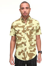 Button-downs - Kill Switch Geo Camo S/S Button Down Shirt