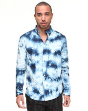 Shirts - Cloud Kicker Tie-Dyed Button Down Shirt