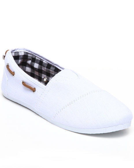 Apple Bottoms Women White Dracoy Adjustable Casual Canvas Sneaker