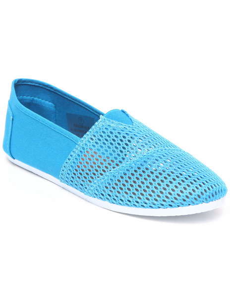 Apple Bottoms Women Blue Pacifica Mesh Casual Sneaker