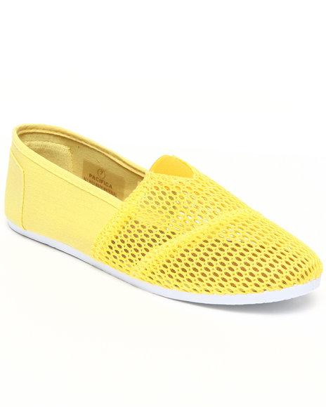 Apple Bottoms Women Yellow Pacifica Mesh Casual Sneaker