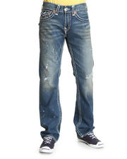 Men - Ricky Straight Leg Flap Back Pckt  Jeans- Saguaro Wash