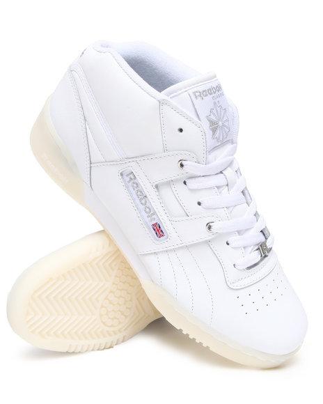 Reebok Men White Workout Mid R12 Sneakers