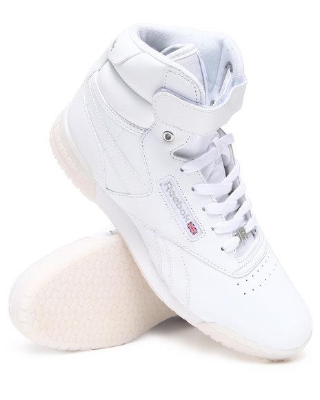 Reebok Men White Exofit Hi Clean R12 Sneakers