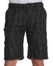 10.Deep - Convertible Black Zebra Print Field Short
