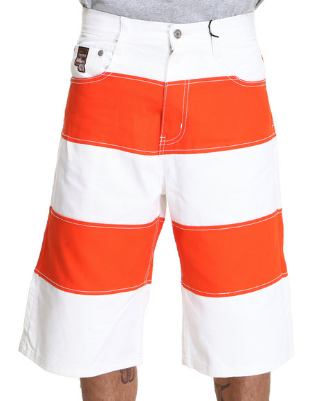 Akademiks - Men Orange Cut & Sewn Twill Short