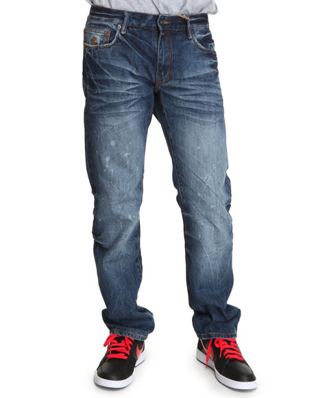 Rocawear Men Medium Wash Kami Kaze Straight Fit Jeans
