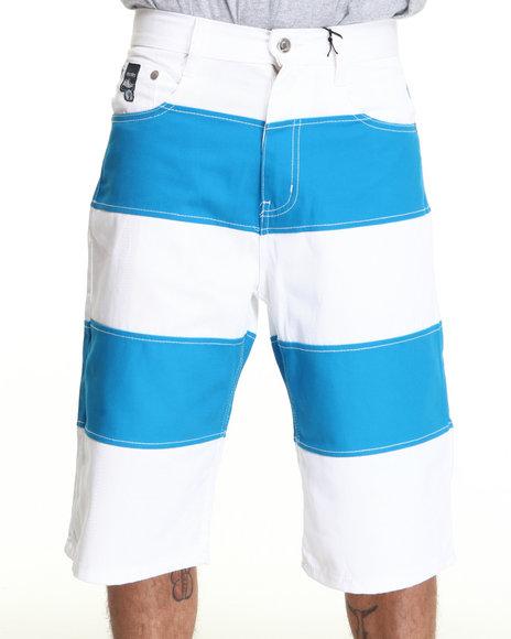 Akademiks Men Blue Cut & Sewn Twill Short