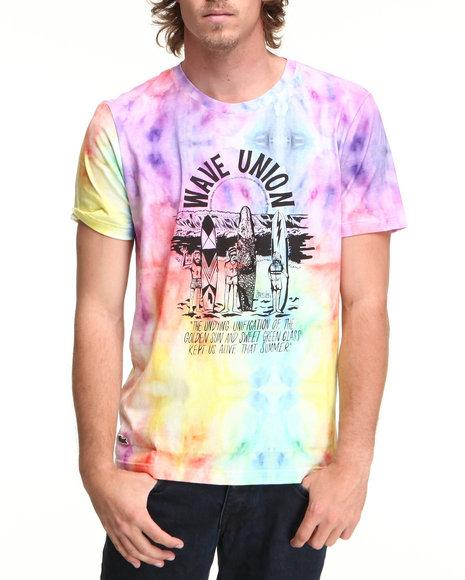 Lacoste Live Multi L!Ve S/S Tie-Dye Wave Union Graphic Tee