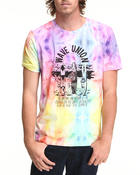 Lacoste Live - L!Ve S/S Tie-Dye Wave Union Graphic Tee