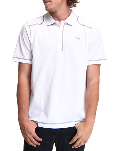 Lacoste White S/S Super Light Contrast Stretch Detail Polo