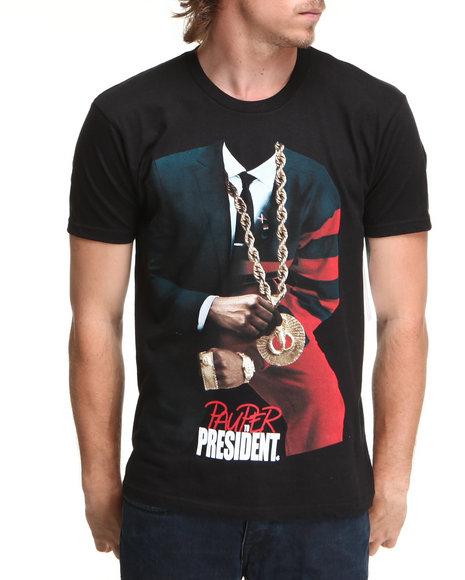 Rocawear Men Black President S/S Tee