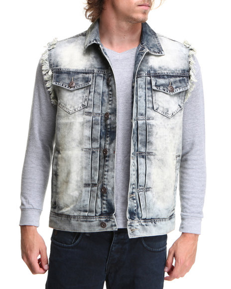 Buyers Picks Men  Premium Washed Denim Vest