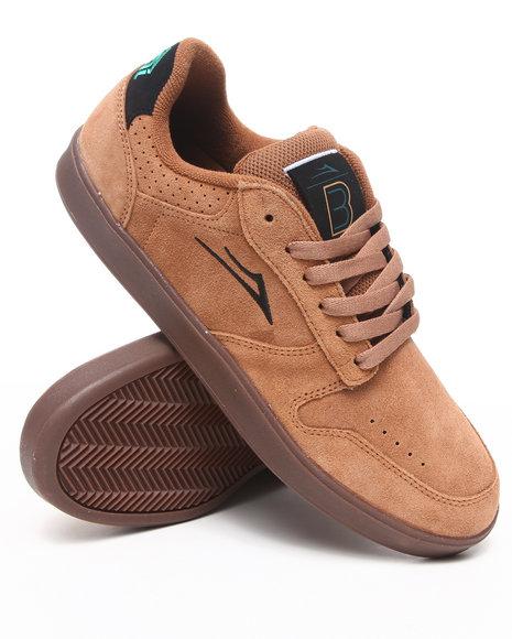 Lakai Men Brown Bb3 Tobacco Suede Sneakers