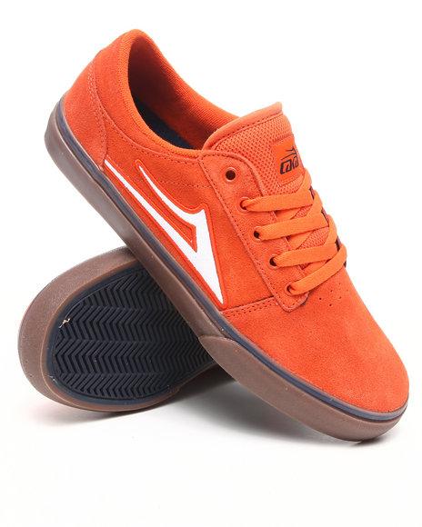 Lakai Men Orange Brea Mandarin/Gum Suede Sneakers
