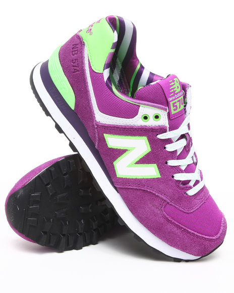 New Balance - Women Purple 574 Yacht Club Sneakers