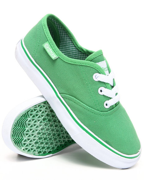 Akademiks Boys Green Canvas Sneaker (3.5-7)