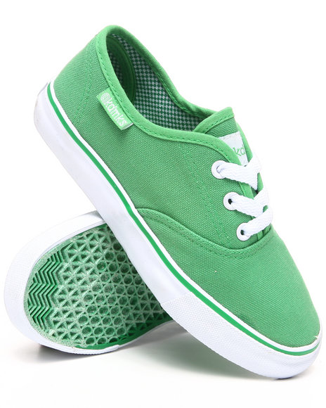 Akademiks - Boys Green Canvas Sneaker (11-3)