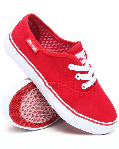Akademiks Boys Red Canvas Sneaker (3.5-7)