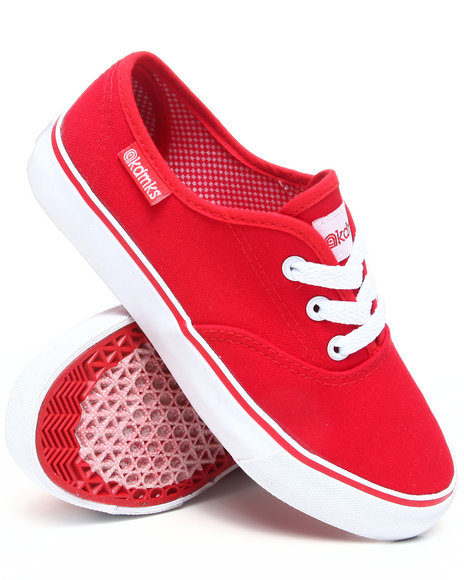 Akademiks Boys Red Canvas Sneaker (11-3)