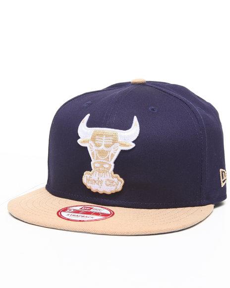 New Era - Men Navy,Tan,White Chicago Bulls Ne Strap Adjustable Hat