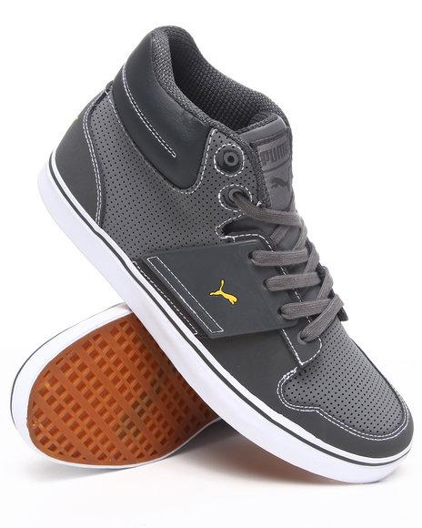Puma Men Grey El Ace 2 Pn Mid Sneakers