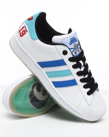 Adidas Men White Superstar 2 Hockey Star Wars Sneakers