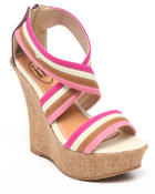 Women - canvas wedge w/back zipper